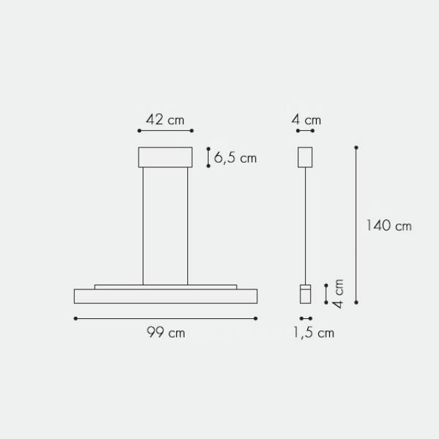 tratto s2 led pendelleuchte 1051 b ro beleuchtung leuchten lights. Black Bedroom Furniture Sets. Home Design Ideas